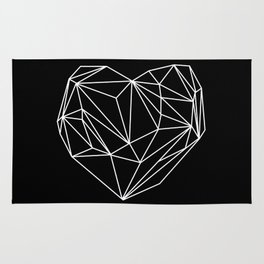 Heart Graphic (Black) Rug