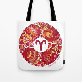 Aries in Petrykivka style (with signature) Tote Bag