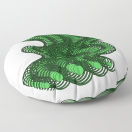 Snakes on a Page- Greens Floor Pillow