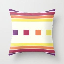 Skittle Brittle Throw Pillow