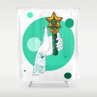 sailor jupiter Shower Curtains featuring Jupiter by scoobtoobins
