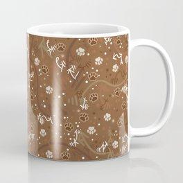 Chocolate Mocha Paw Prints Coffee Mug