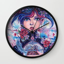 Hand on Heart Wall Clock