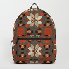 Abstract flower pattern 5d Backpack