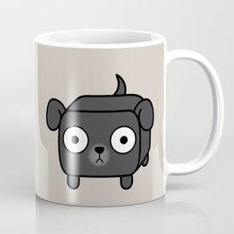 Pitbull Loaf - Black Pit Bull with Floppy Ears Coffee Mug