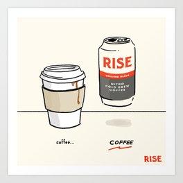 Next Level Nitro Coffee Art Print