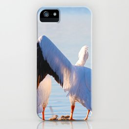 Pelican Wooing I iPhone Case