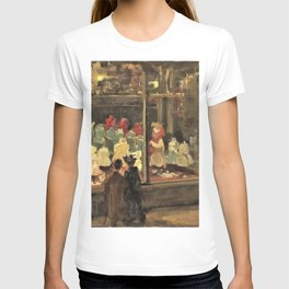 Isaac Lazarus Israels - Shop window Left window with deepened entrance porch of fashion warehouse, Amsterdam, by evening T-shirt
