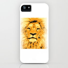 A Unique Cool Animal Design With A Nice Illustration Of A Lion King T-shirt Design Jungle Animal iPhone Case