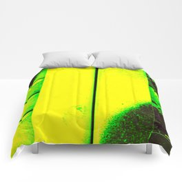 Black, Green and Gold Comforters