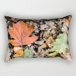 Autumnal leaves on the ground Rectangular Pillow