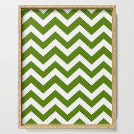 Avocado - green color - Zigzag Chevron Pattern Serving Tray