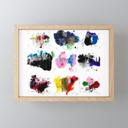 9 abstract rituals (2) Framed Mini Art Print