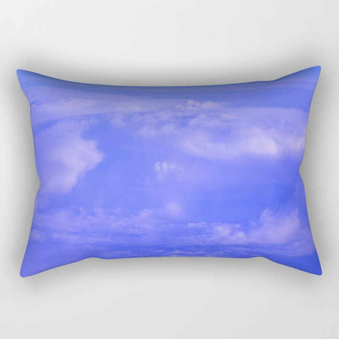 Aerial Blue Hues IV Rectangular Pillow