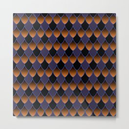 Squama Fhish Dark Pattern Metal Print