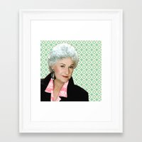 golden girls Framed Art Prints featuring Golden Girls - Dorothy by courtneeeee
