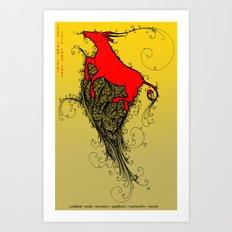 Chinese Zodiac Ox Art Print