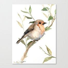 Watercolor Robin Artwork Canvas Print