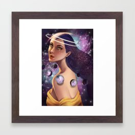 Allune, Aelor of the Moon Framed Art Print