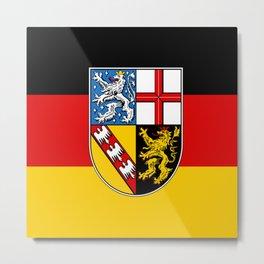 Flag of Saarland -Sarre Metal Print