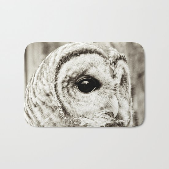 Wise Old Owl Bath Mat