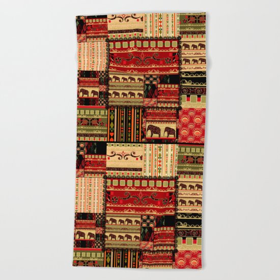 African patchwork. Beach Towel