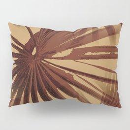 Burgundy and Coffee Tropical Beach Palm Vector Pillow Sham