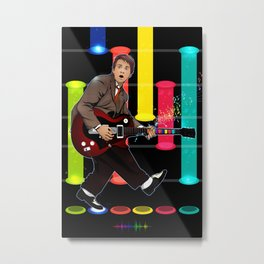 Marty McFly plays Guitar Hero Metal Print