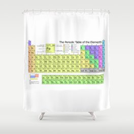 Periodic Table of Elements Chart Shower Curtain
