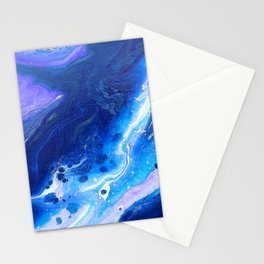 Grape Lakes Fluid Abstract Stationery Cards