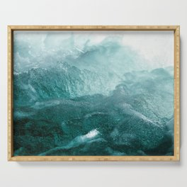 Sea Waves In Italy Serving Tray