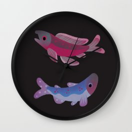 Salmon - dark Wall Clock
