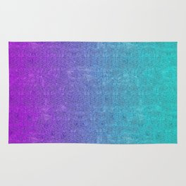 Tropical Twilight Glitter Gradient Rug