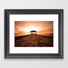 Just Another Waikiki Sunset Framed Art Print