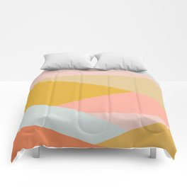 Large Triangle Pattern in Soft Earth Tones Comforters