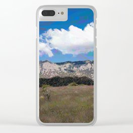 Sandia Mountains Clear iPhone Case