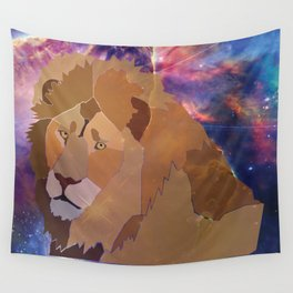 The Lion Is High Wall Tapestry