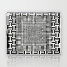 Black & White Basket Weave Laptop & iPad Skin