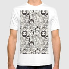 Faces in the Tube MEDIUM Mens Fitted Tee White