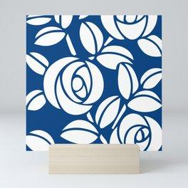 Roses Blue and White Mini Art Print