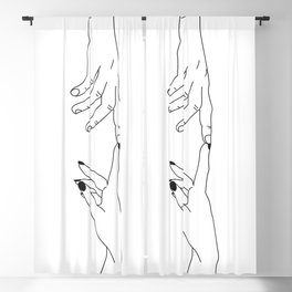 Hands - magic touch Blackout Curtain