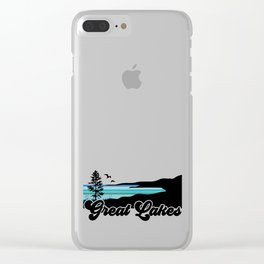 Great Lakes Coast Clear iPhone Case