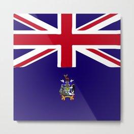 Sourth Georgia and the South Sandwich Islands flag emblem Metal Print