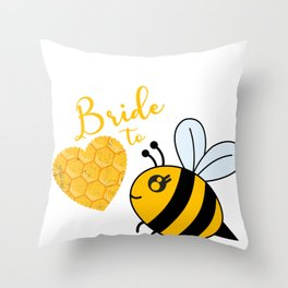 Bee Bees Honey Insekt Beekeeping Beehive Wasp Gift Throw Pillow