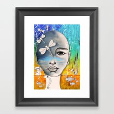 Lady of the water Framed Art Print