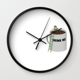 Coffee Pool - Drink Me! Wall Clock