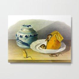 Common Mouse Vintage Illustration Metal Print