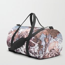 Frosty Transformation to Winter - An abstracted impression Duffle Bag
