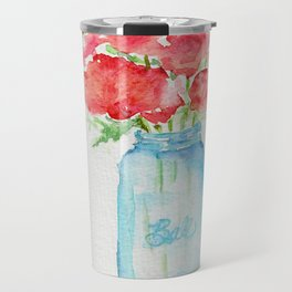 Ball Jar - Watercolor  Travel Mug