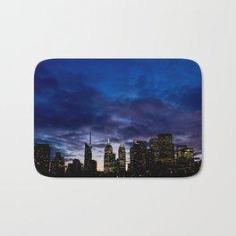 Skyline City Sunset Bath Mat